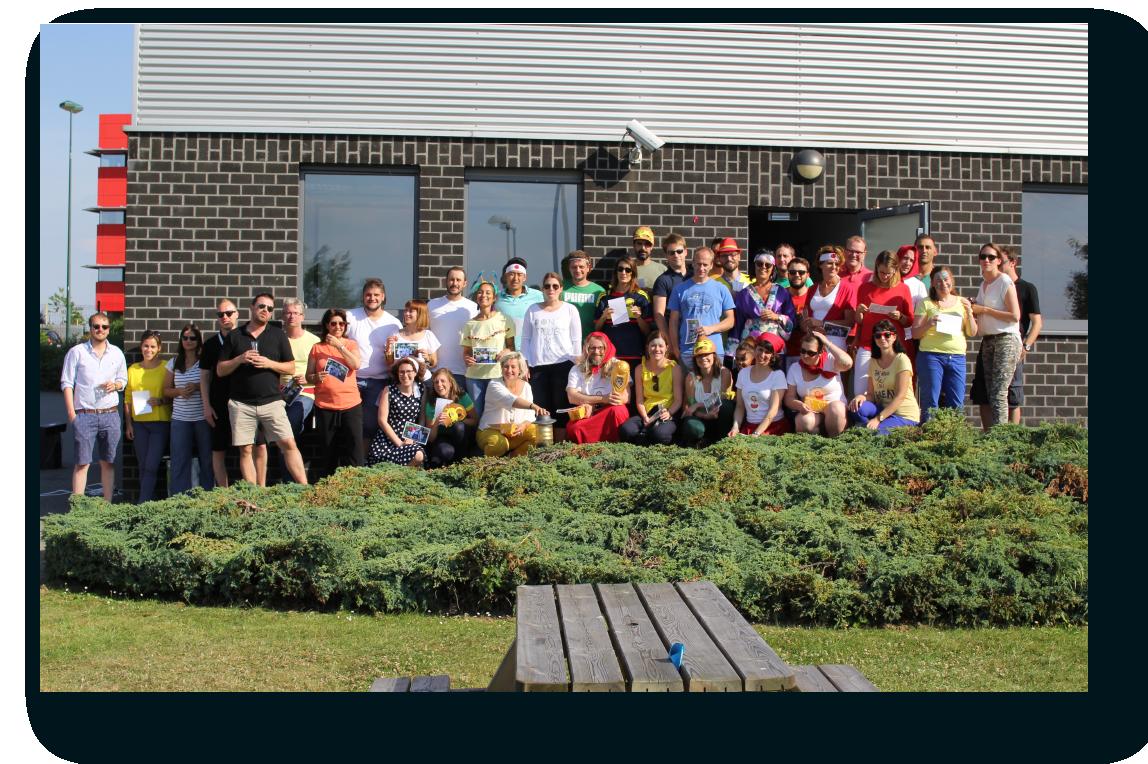Team building en la sede de OncoDNA en 2018