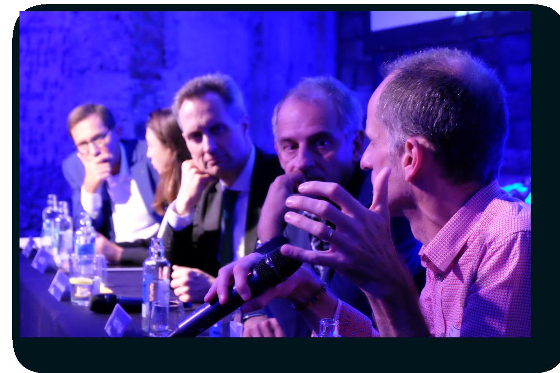 Debate científico durante ESMO 2019 en el evento llevado a cabo por OncoDNA