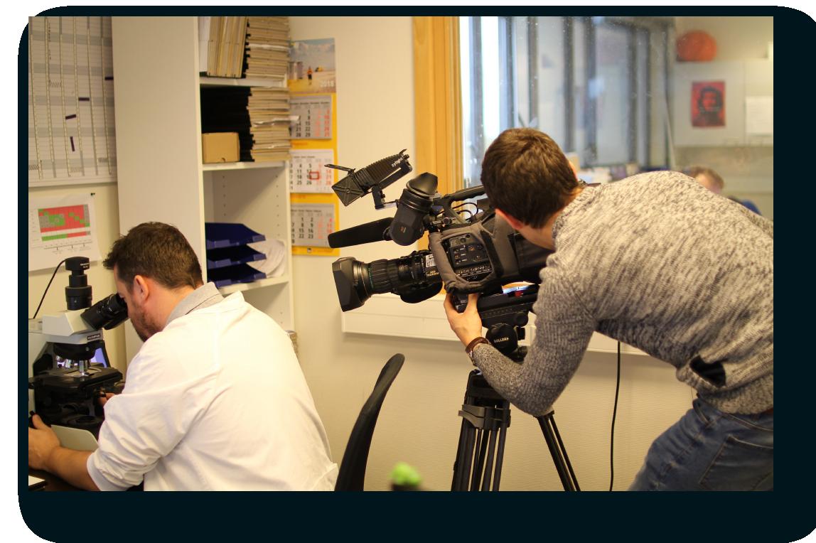 La televisión belga RTL en nuestras oficinas informando sobre el reembolso de nuestras soluciones en Bélgica