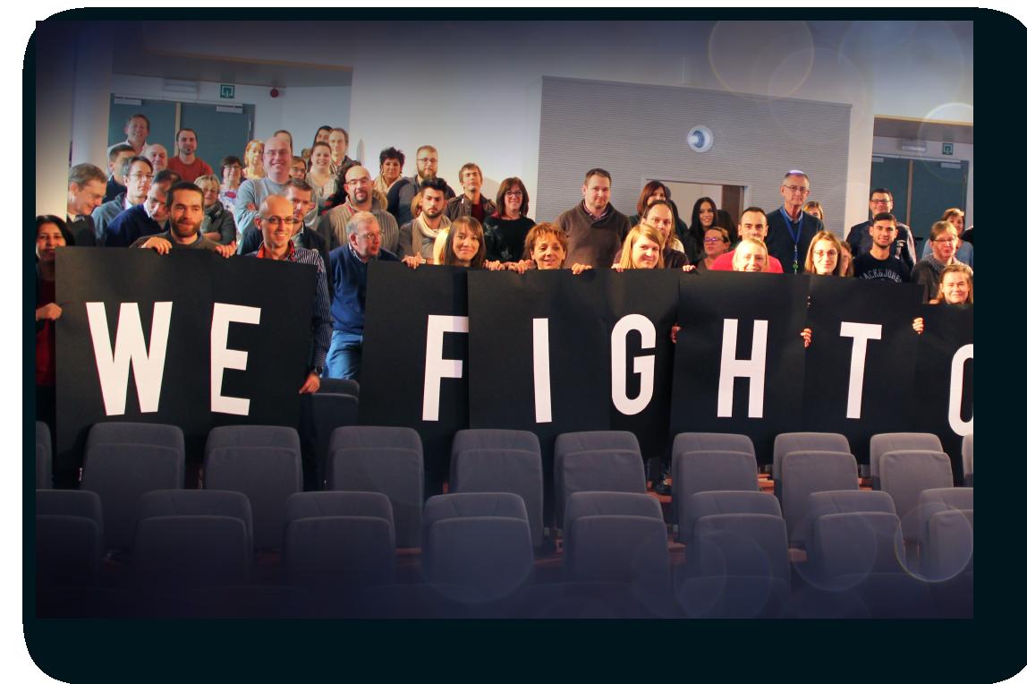 """Evento de OncoDNA """"We Fight Cancer"""" (nosotros luchamos contra el cáncer) en Gosselies, Bélgica"""